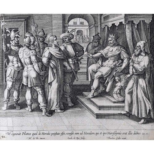 Theodoor Galle Martin de Vos Jesus taken before Pilate and Herod