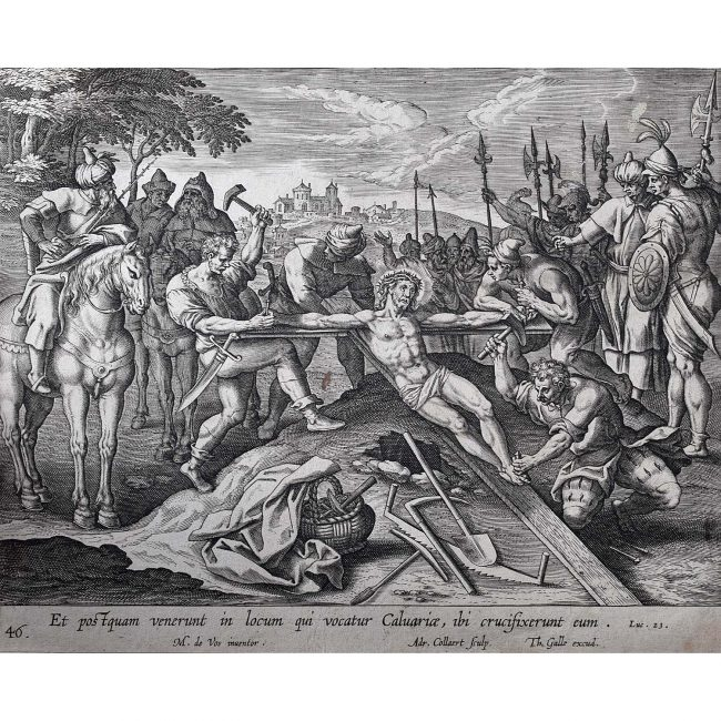 Theodoor Galle Martin de Vos Jesus is Nailed to the Cross