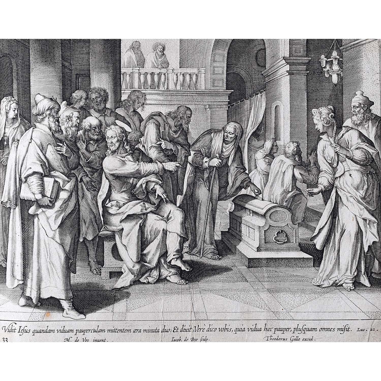 Theodoor Galle Martin de Vos The Widow's Offering