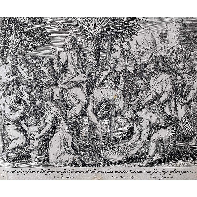 Adrian Collaert Martin de Vos Triumphal entry into Jerusalem