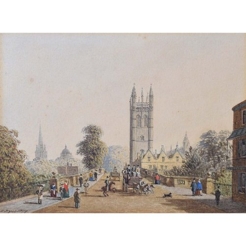 Charles Pyne Magdelen College tower Oxford 1859
