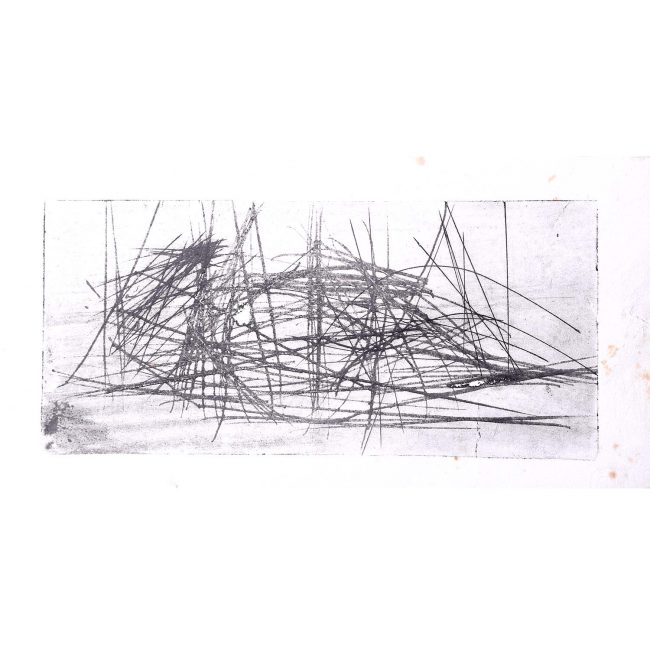 Henry Cliffe (1919-1983) Abstract Drawing 43
