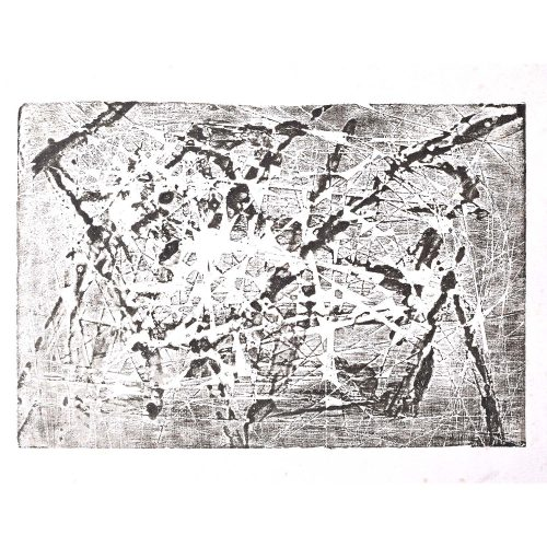 Henry Cliffe (1919-1983) Abstract Drawing Jagged 12