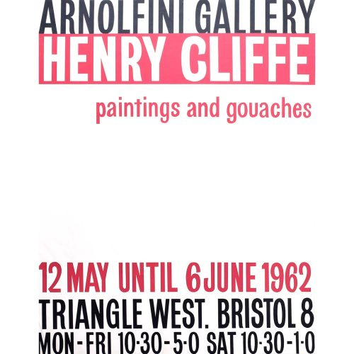 Henry Cliffe (1919-1983) Arnolfini Gallery Poster