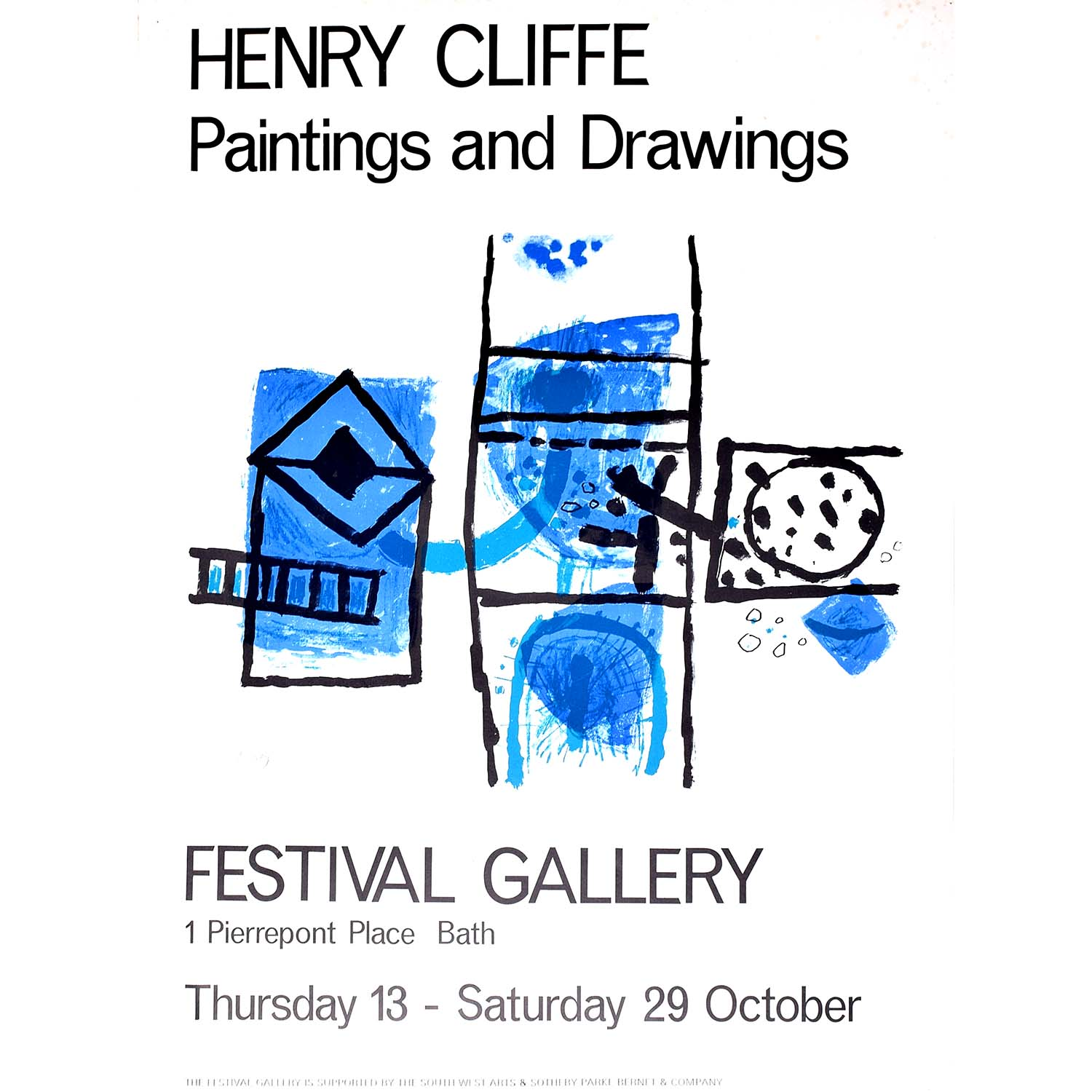Henry Cliffe (1919-1983) Festival Gallery Poster