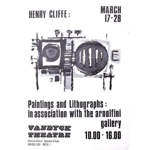 Henry Cliffe (1919-1983) Vandyck Theatre Poster