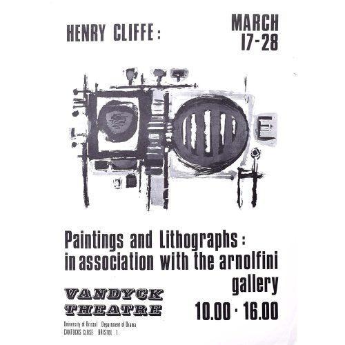 Henry Cliffe (1919-1983) Vandyck Theatre Poster