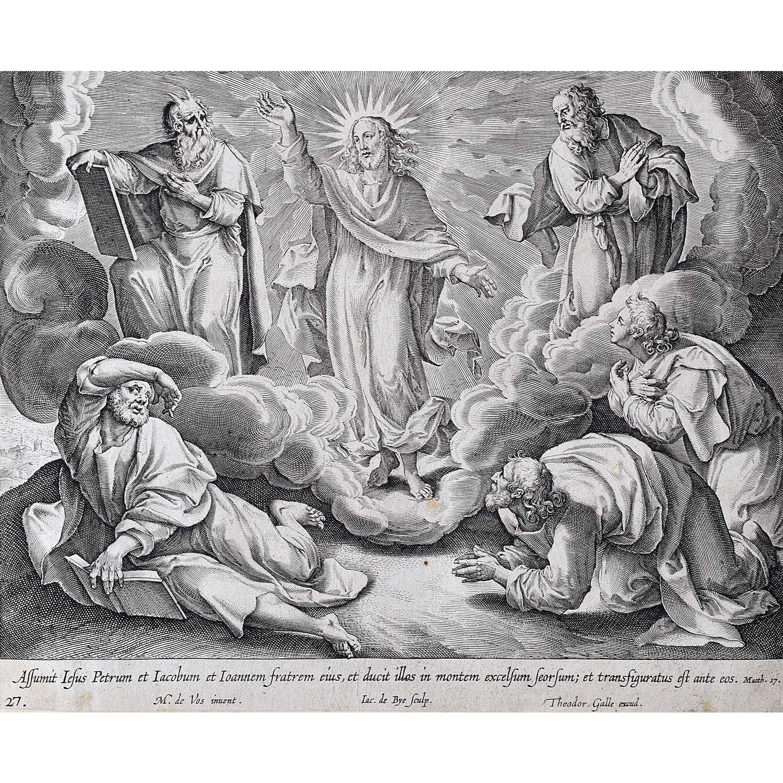 Adrian Collaert Martin de Vos The Transfiguration