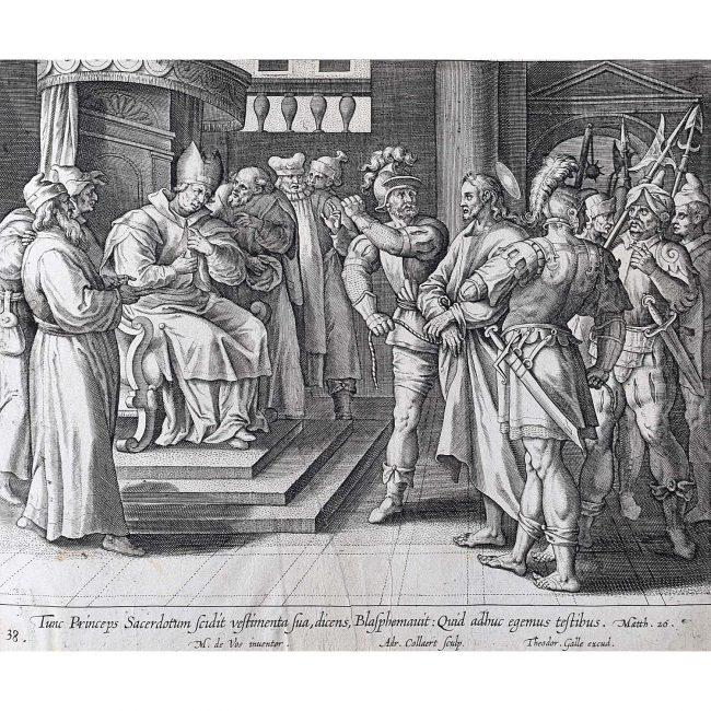 Theodoor Galle Martin de Vos Jesus Faces the Sanhedrin