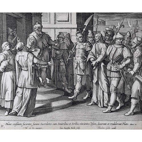 Theodoor Galle Martin de Vos Jesus Before Pilate