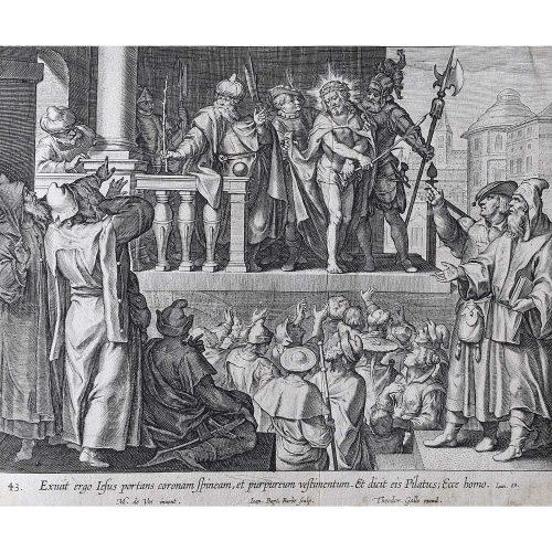 Theodoor Galle Martin de Vos Jesus in Purple Robes and Crown of Thorns