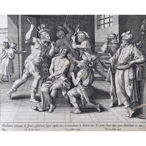 Theodoor Galle Martin de Vos The Soldiers Mock Jesus