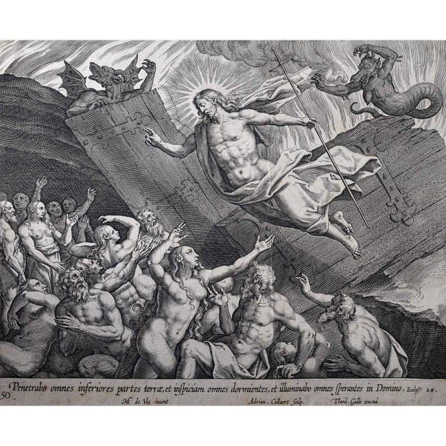 Theodoor Galle Martin de Vos Jesus Resurrected