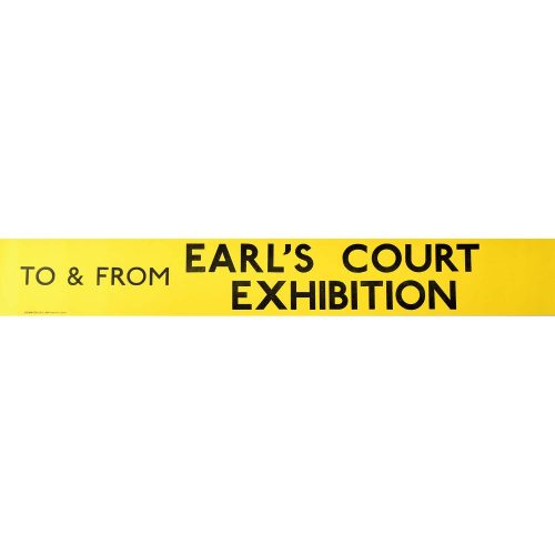 Earl's Court Exhibition Routemaster Slipboard Poster c1970