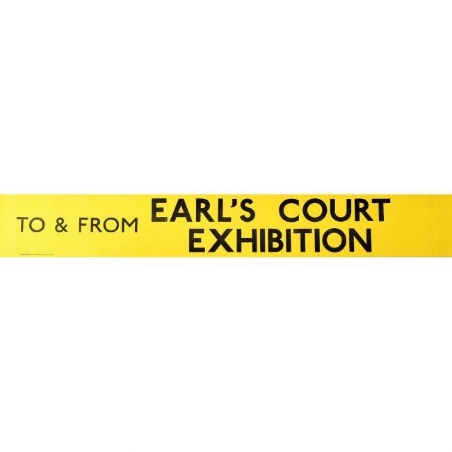Earl's Court Exhibition Routemaster Slipboard Poster c1970