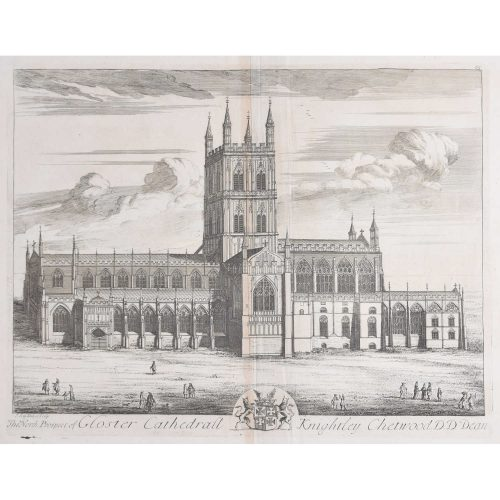 Johannes Kip, 'The North Prospect of Gloster Cathedral' (c.1716) Copper Engraving